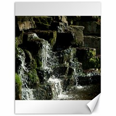 Water Waterfall Nature Splash Flow Canvas 18  X 24   by BangZart