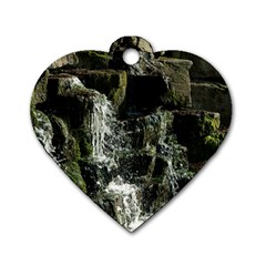 Water Waterfall Nature Splash Flow Dog Tag Heart (one Side) by BangZart