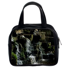 Water Waterfall Nature Splash Flow Classic Handbags (2 Sides) by BangZart