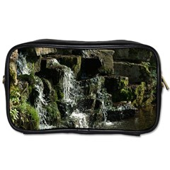 Water Waterfall Nature Splash Flow Toiletries Bags 2 Side