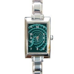Fractals Form Pattern Abstract Rectangle Italian Charm Watch