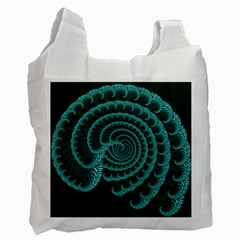 Fractals Form Pattern Abstract Recycle Bag (one Side) by BangZart