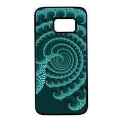 Fractals Form Pattern Abstract Samsung Galaxy S7 Black Seamless Case