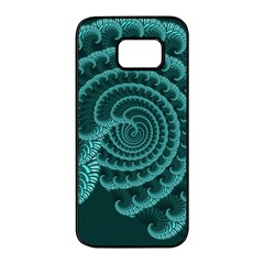 Fractals Form Pattern Abstract Samsung Galaxy S7 Edge Black Seamless Case