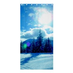 Ski Holidays Landscape Blue Shower Curtain 36  X 72  (stall)  by BangZart