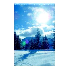 Ski Holidays Landscape Blue Shower Curtain 48  X 72  (small)