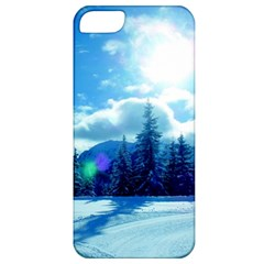Ski Holidays Landscape Blue Apple Iphone 5 Classic Hardshell Case