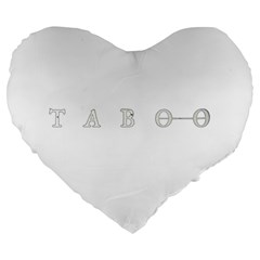 Taboo Large 19  Premium Heart Shape Cushions by Valentinaart