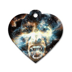 Universe Vampire Star Outer Space Dog Tag Heart (one Side) by BangZart
