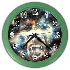 Universe Vampire Star Outer Space Color Wall Clocks by BangZart