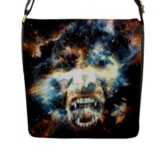 Universe Vampire Star Outer Space Flap Messenger Bag (l)