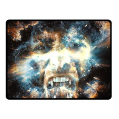 Universe Vampire Star Outer Space Double Sided Fleece Blanket (small)