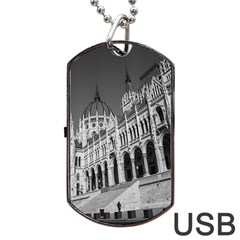 Architecture Parliament Landmark Dog Tag Usb Flash (two Sides) by BangZart