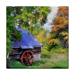 Landscape Blue Shed Scenery Wood Face Towel