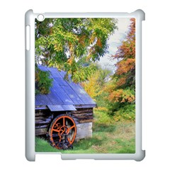 Landscape Blue Shed Scenery Wood Apple Ipad 3/4 Case (white) by BangZart