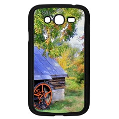 Landscape Blue Shed Scenery Wood Samsung Galaxy Grand Duos I9082 Case (black)