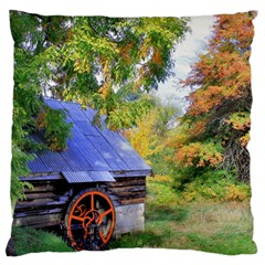 Landscape Blue Shed Scenery Wood Standard Flano Cushion Case (one Side)