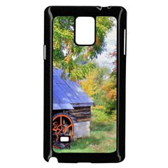 Landscape Blue Shed Scenery Wood Samsung Galaxy Note 4 Case (black)