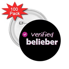 Verified Belieber 2 25  Buttons (100 Pack)