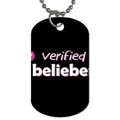 Verified Belieber Dog Tag (two Sides) by Valentinaart