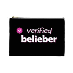 Verified Belieber Cosmetic Bag (large)  by Valentinaart