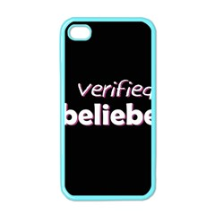 Verified Belieber Apple Iphone 4 Case (color) by Valentinaart