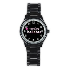 Verified Belieber Stainless Steel Round Watch by Valentinaart
