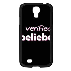 Verified Belieber Samsung Galaxy S4 I9500/ I9505 Case (black) by Valentinaart