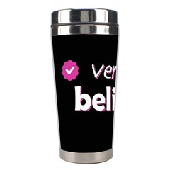 Verified Belieber Stainless Steel Travel Tumblers by Valentinaart