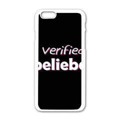 Verified Belieber Apple Iphone 6/6s White Enamel Case by Valentinaart