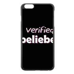 Verified Belieber Apple Iphone 6 Plus/6s Plus Black Enamel Case by Valentinaart