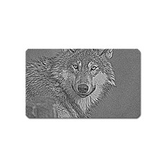 Wolf Forest Animals Magnet (name Card)