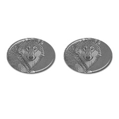 Wolf Forest Animals Cufflinks (oval) by BangZart
