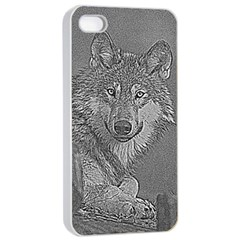 Wolf Forest Animals Apple Iphone 4/4s Seamless Case (white)