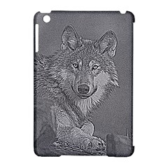 Wolf Forest Animals Apple Ipad Mini Hardshell Case (compatible With Smart Cover)