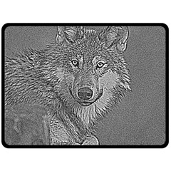 Wolf Forest Animals Double Sided Fleece Blanket (large)