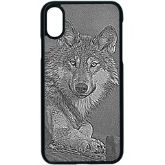 Wolf Forest Animals Apple Iphone X Seamless Case (black)