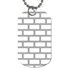 Wall Pattern Rectangle Brick Dog Tag (one Side)