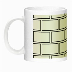 Wall Pattern Rectangle Brick Night Luminous Mugs