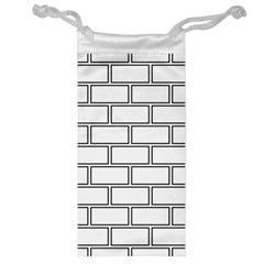 Wall Pattern Rectangle Brick Jewelry Bag