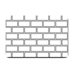Wall Pattern Rectangle Brick Small Doormat