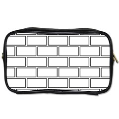 Wall Pattern Rectangle Brick Toiletries Bags 2 Side