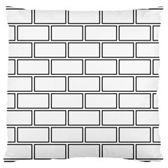 Wall Pattern Rectangle Brick Large Cushion Case (two Sides)