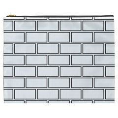 Wall Pattern Rectangle Brick Cosmetic Bag (xxxl)  by BangZart