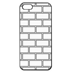 Wall Pattern Rectangle Brick Apple Iphone 5 Seamless Case (black)