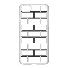 Wall Pattern Rectangle Brick Apple Iphone 8 Seamless Case (white) by BangZart