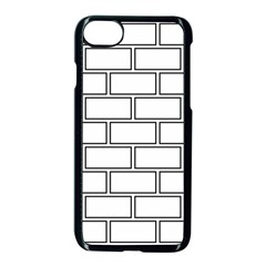 Wall Pattern Rectangle Brick Apple Iphone 8 Seamless Case (black) by BangZart