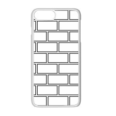 Wall Pattern Rectangle Brick Apple Iphone 8 Plus Seamless Case (white) by BangZart