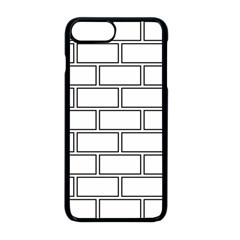 Wall Pattern Rectangle Brick Apple Iphone 8 Plus Seamless Case (black) by BangZart