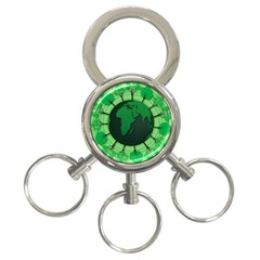 Earth Forest Forestry Lush Green 3 Ring Key Chains
